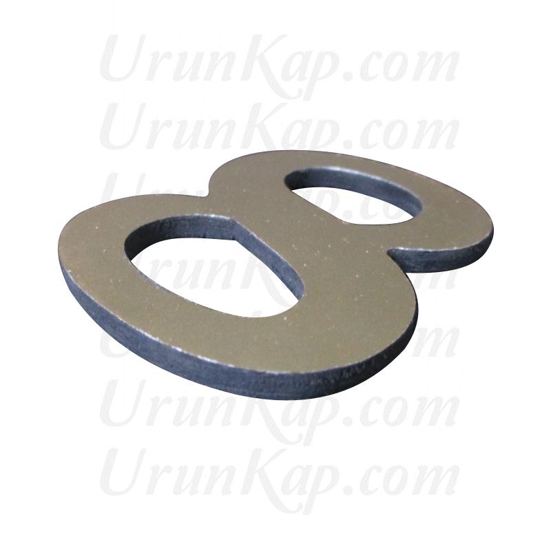 5 cm ( Alucor ) Aynalı Dekota Harf / Rakam