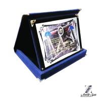 Mavi Yatay Kadife Albüm Plaket