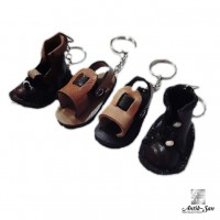 Deri Sandalet Maskot Anahtarlık