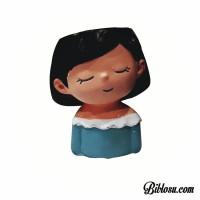 dekoratif kız figürlü saksı