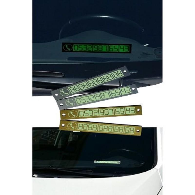 Fosforlu Araç Telefon Plakası