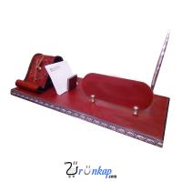 Kırmızı Deri Masa Seti