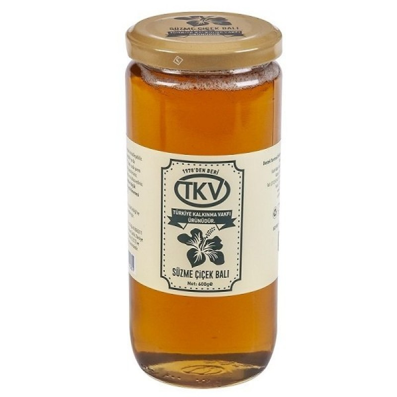 Süzme Çiçek Balı TKV (600gr)