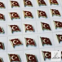 Türk Bayrağı Rozeti Sarı