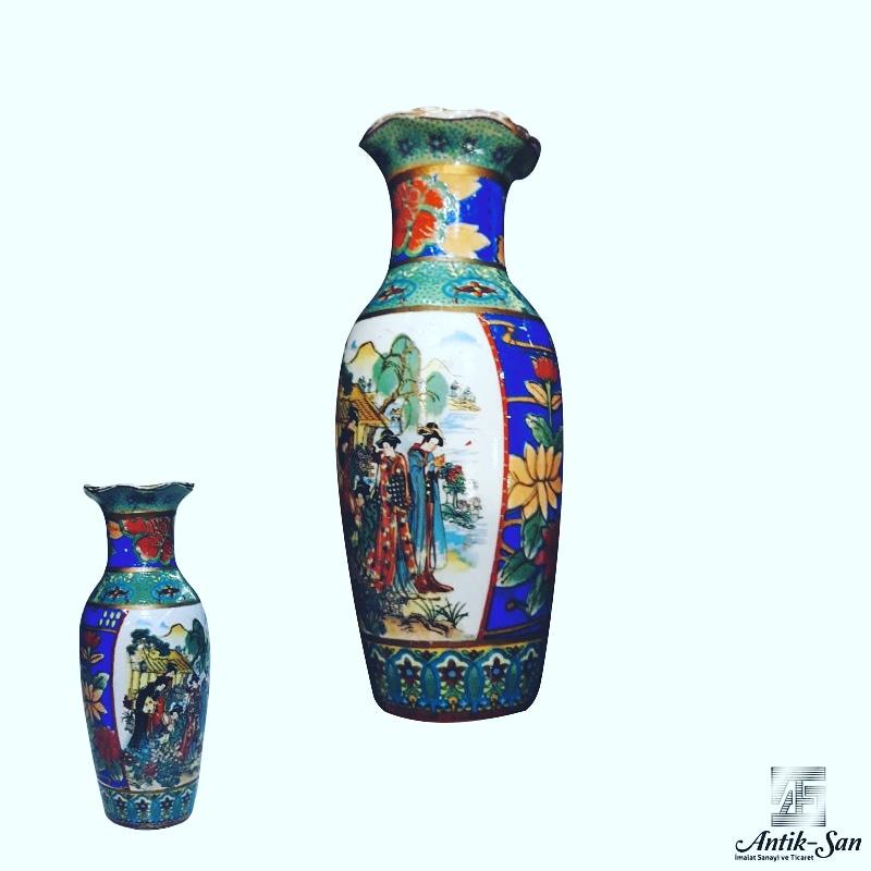 çini işleme vazo