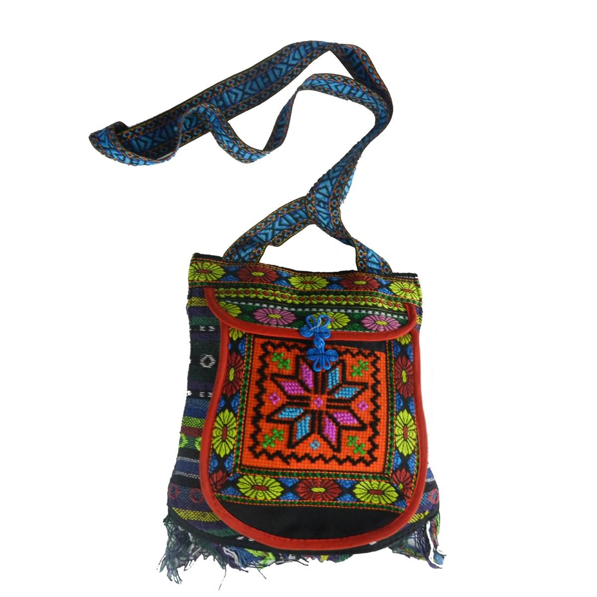 kilim desenli heybe omuz çantası