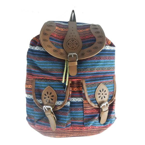 kilim desenli çanta
