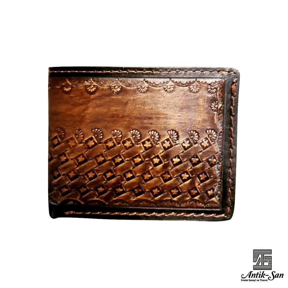 deri cüzdan motif
