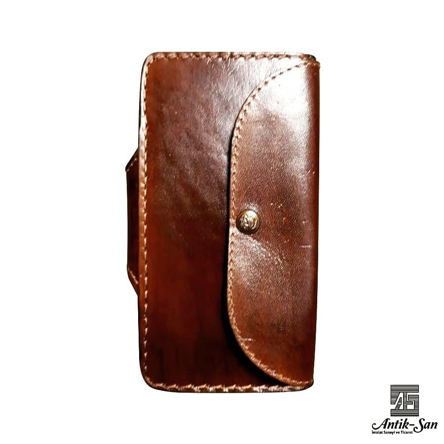 deri dikdörtgen kadın cüzdanı