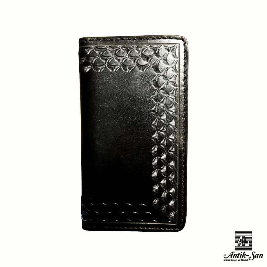 dikdörtgen deri erkek cüzdanı