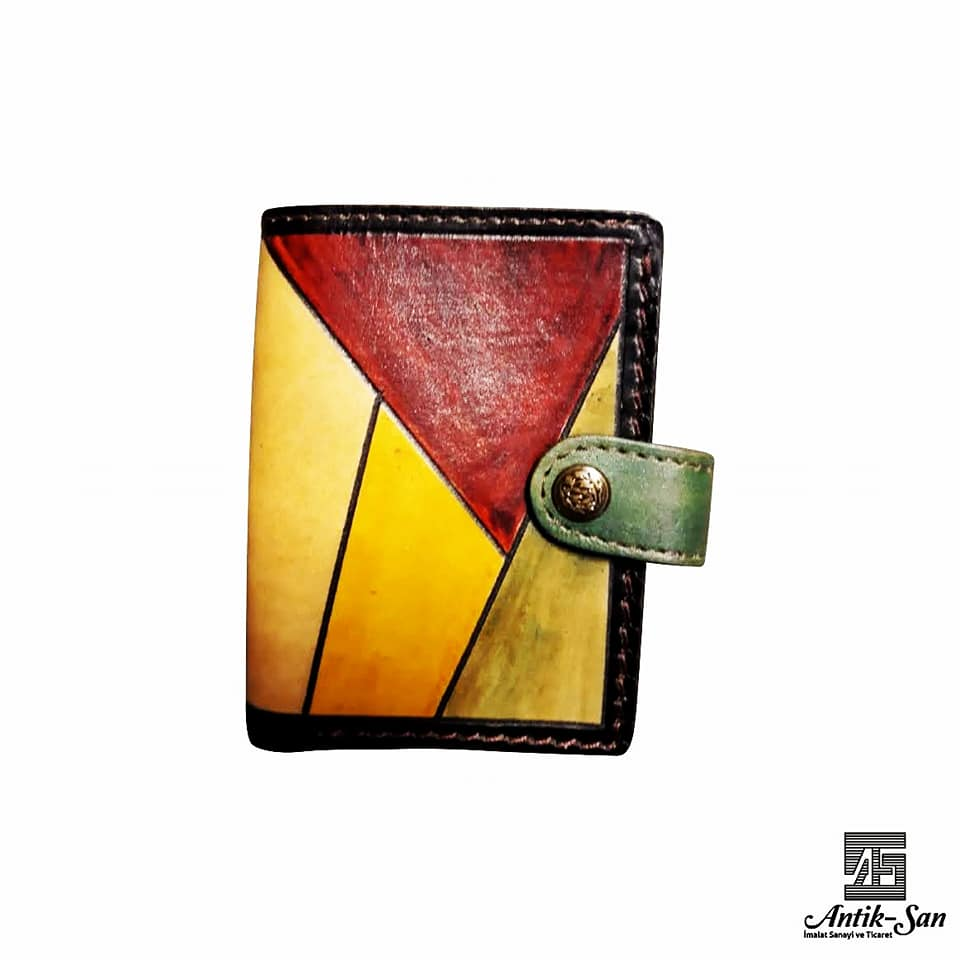 rengarenk deri cüzdan