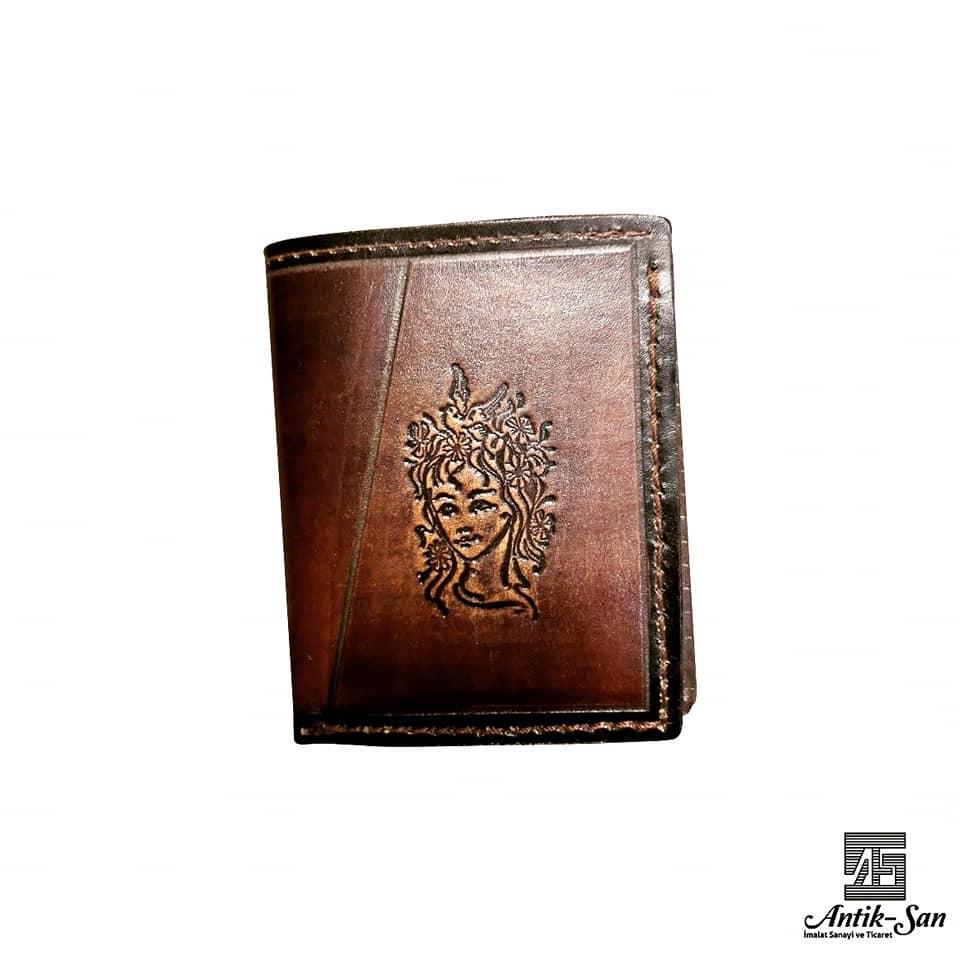 deri cüzdan siluet