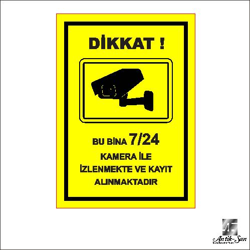 kamera uyarı levhası uyarı tabelası
