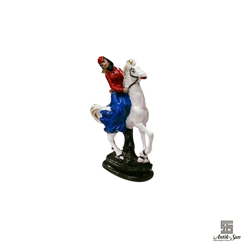 hediyelik kız üzerinde at biblosu