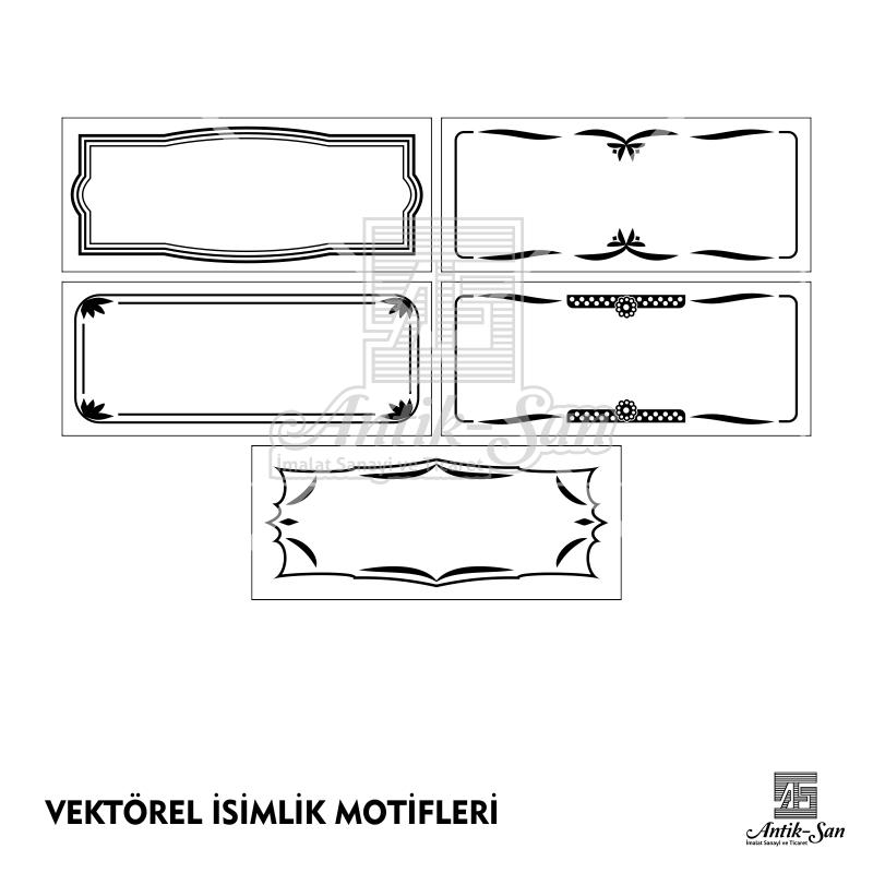 vektörel motif isimlik çizim lazer sublimasyon